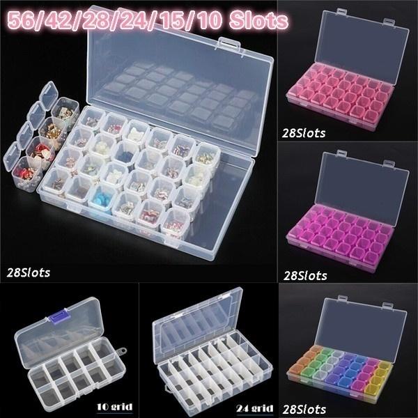 DIAMOND, Jewelry, plastic case, storagecontainer