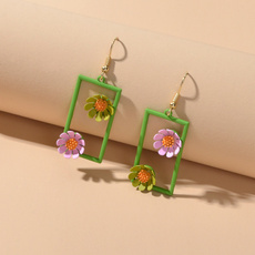 boho, Flowers, Colorful, earringsjewelryaccessory