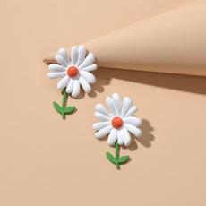enamelflowerearring, Jewelry, Sunflowers, Stud Earring