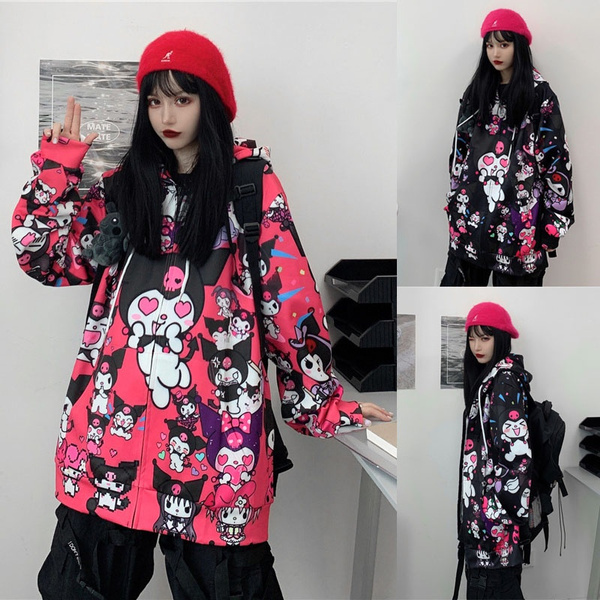 cute, Fashion, fashion jacket, kuromi