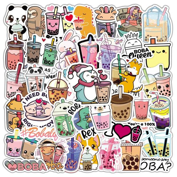 Kawaii, cute, bubbletea, Stickers