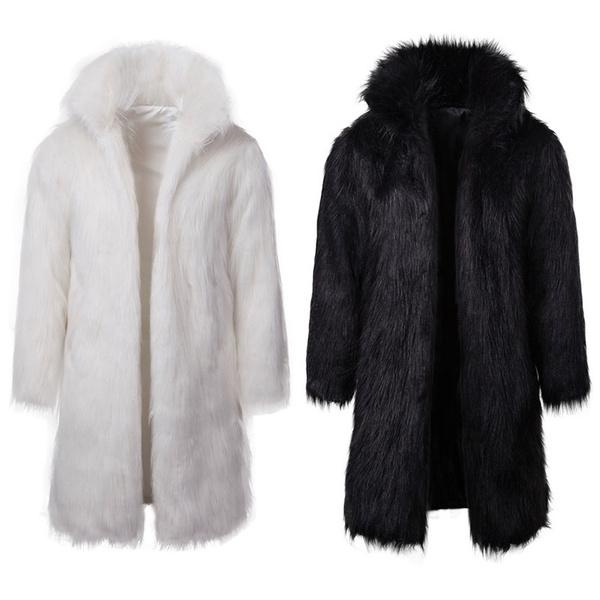 fauxfurcoat, warmjacket, menfurcoat, Winter