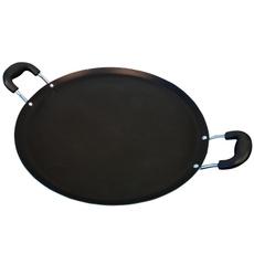 Steel, 14inchpan, comalwithhandle, tealcomal