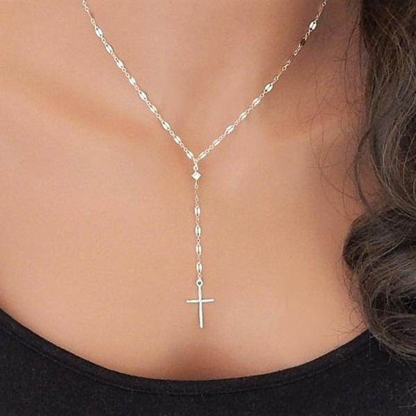 Chain Necklace, Fashion, Jewelry, Cross Pendant