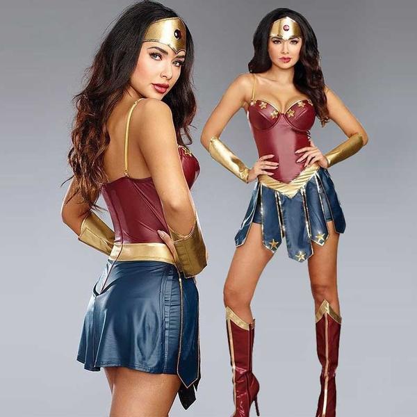 superherocostume, wonderwomanladycosplaycostume, Cosplay, Dress