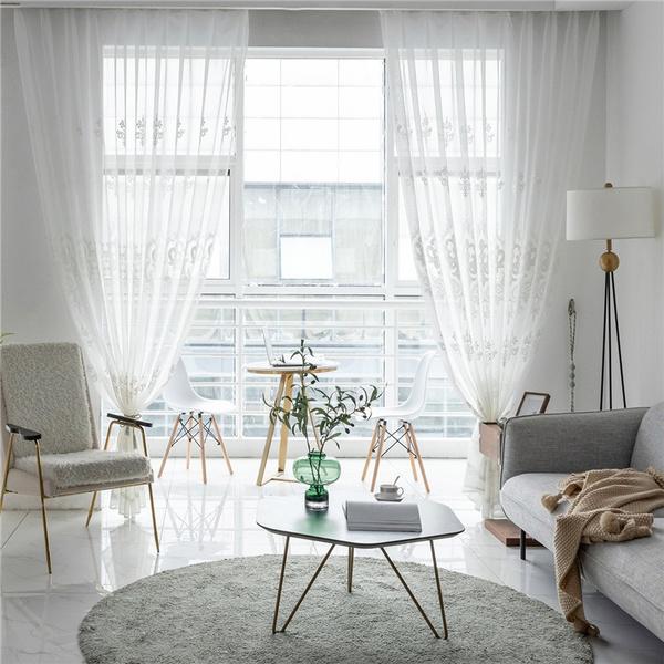 bedroomcurtain, Home & Kitchen, tulle, grommetcurtain