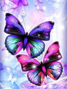 butterfly, 5ddiamondembroidery, DIAMOND, Wall Art