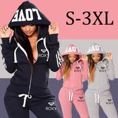 zipperhoodiesuit, Fashion, pants, tracksuits sportswear women