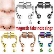 Steel, magneticfakenosering, Fashion, Stainless Steel