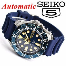 Steel, Blues, seiko5, quartz