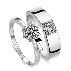 Couple Rings, adjustablering, Silver Jewelry, Fashion