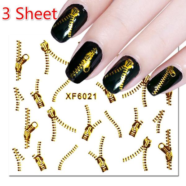 nail decoration, Nails, nail decals, goldplatedzipper