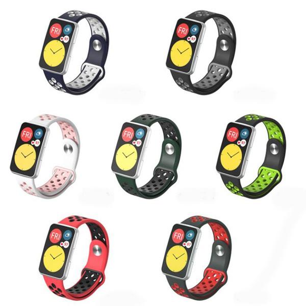 siliconewatchband, sportwristwatchbandforhuaweiwatchfit, Silicone, Bracelet