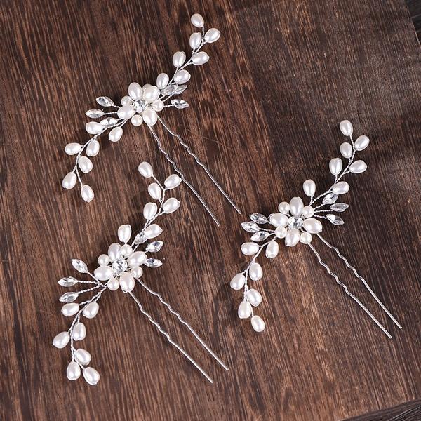 Jewelry, Pins, pearls, Handmade