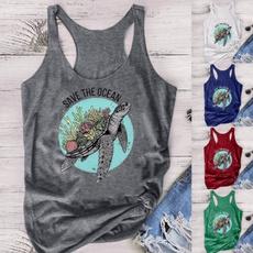 Turtle, Summer, Vest, Fashion