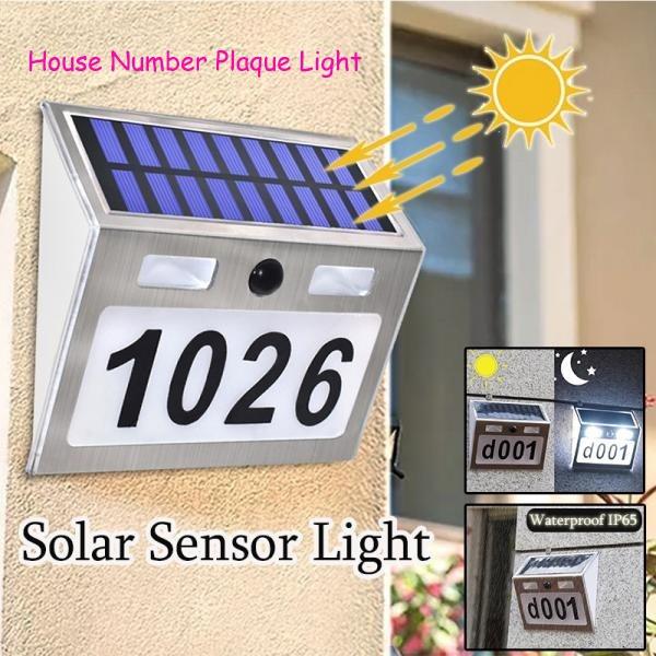 solarwalllamp, solarhousenumberlight, led, Garden