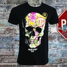 Funny T Shirt, Necks, skull, roundnecktop