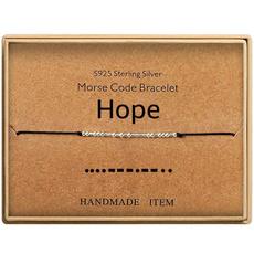 Graduation Gift, sterlingsilverbeadbracelet, morsecodebracelet, Jewelry