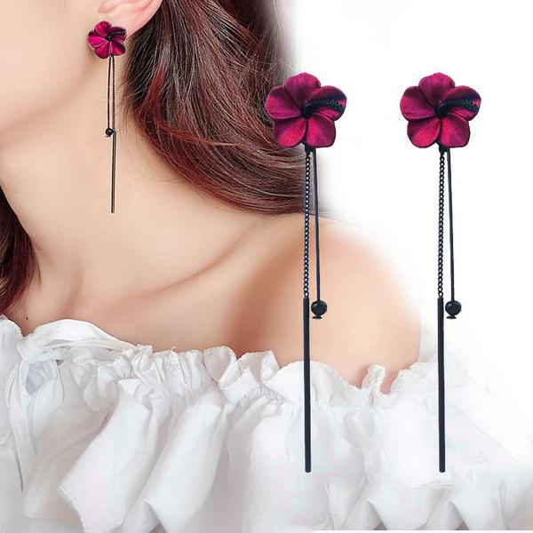 pendantforwoman, Flowers, Jewelry, rhinestonehearring