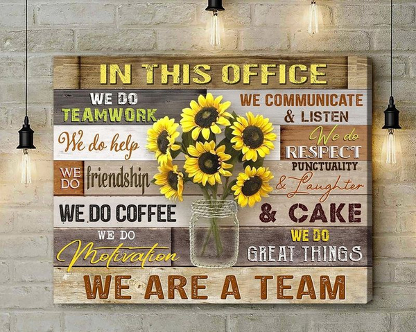 Decor, Office, Sunflowers, omyg