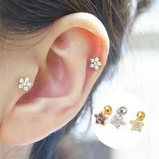 Fashion, Jewelry, Elegant, flowerssilverearring