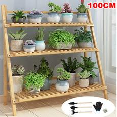flowerpotstand, Wood, flowerrack, flowerpot