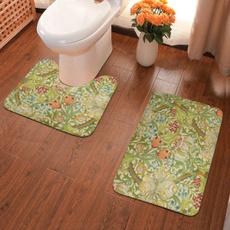 2piecebathmat2piece, softantiskidpadsbathmat, Bathroom, nothurtthefloorushapedtoiletfloormat
