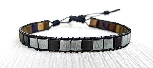 handmadebraceletsformen, hematitebracelet, mennaturalstonebracelet, Jewelry