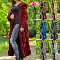 Plus Size, Long Sleeve, Coats & Jackets, knit cardigan