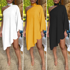 Mini, Plus Size, irregulardres, short dress