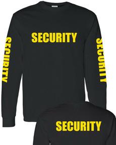 T Shirts, Sleeve, Long Sleeve, Security