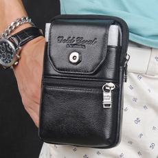 leatherfannypackformen, mobile phone bags&cases, Men, purses