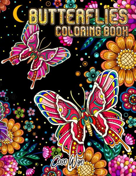Beautiful, butterfly, Butterflies, floralcoloringbook