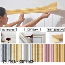 PVC wall stickers, Bathroom, floralwallborder, 3dbordersticker