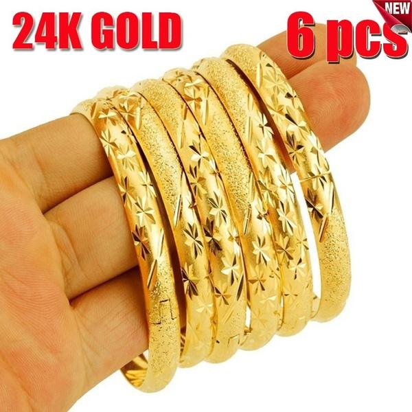 Women, 24kgoldbangle, Wedding Accessories, Gold Bangle