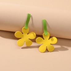enamelflowerearring, Flowers, Beautiful Earrings, Colorful