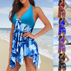 Plus Size, Necks, Halter, asymmetric