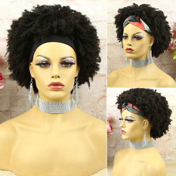 wig, afrokinkycurlywig, Shorts, nonelacewig