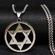 judaismnecklace, Steel, Silver Jewelry, Star