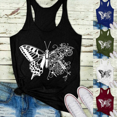 butterfly, printedtop, Plus Size, cute