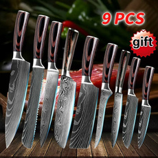 Kitchen & Dining, Laser, damascusknife, knifespocket