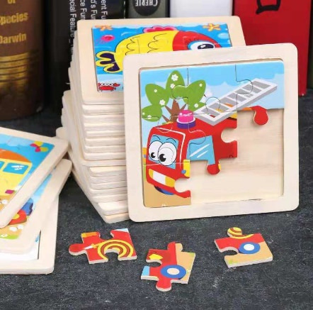 Educational, Toy, Wooden, Puzzle