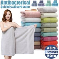 solidcolortowel, absorbentbathtowel, towelsampwashcloth, thickeninghandtowel