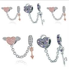 Sterling, Heart, Fashion, Keys