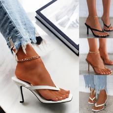 Summer, Flip Flops, Plus Size, Suede