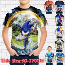 kidssummertshirt, kidstopstshirt, Fashion, sonic