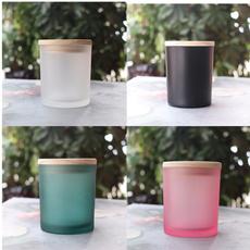 Jars, emptyglassbottle, frostedgla, Candle Holders & Accessories