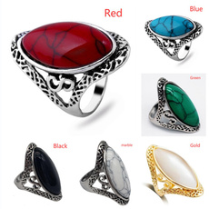 Sterling, ringsformen, Turquoise, hip hop jewelry
