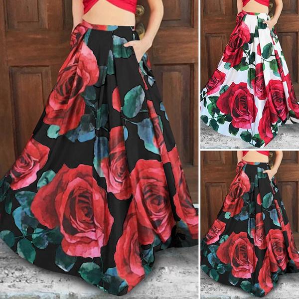 long skirt, Plus Size, Umbrella, Swing dress