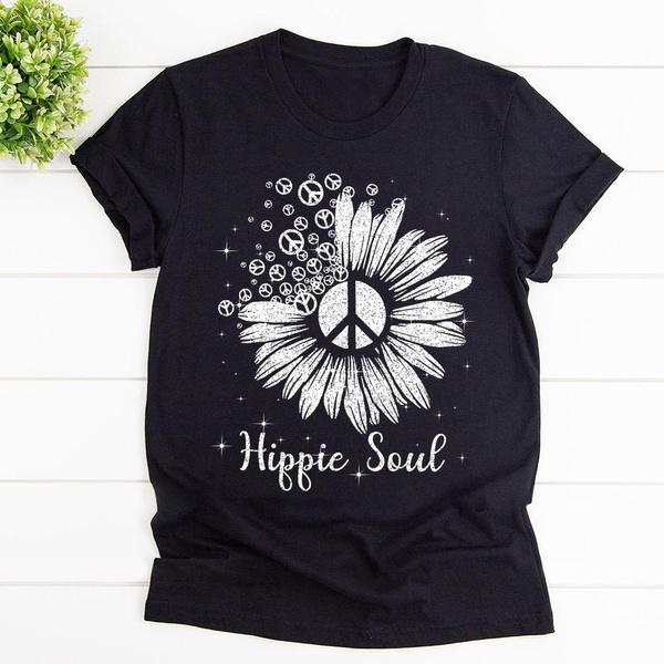 Fashion, hippie, Sunflowers, unisex